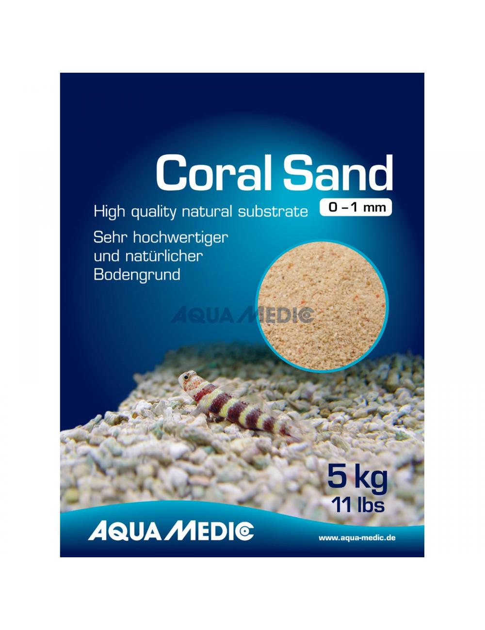 AQUA-MEDIC - Coral Sand - 0 - 1 mm - 5 kg sac