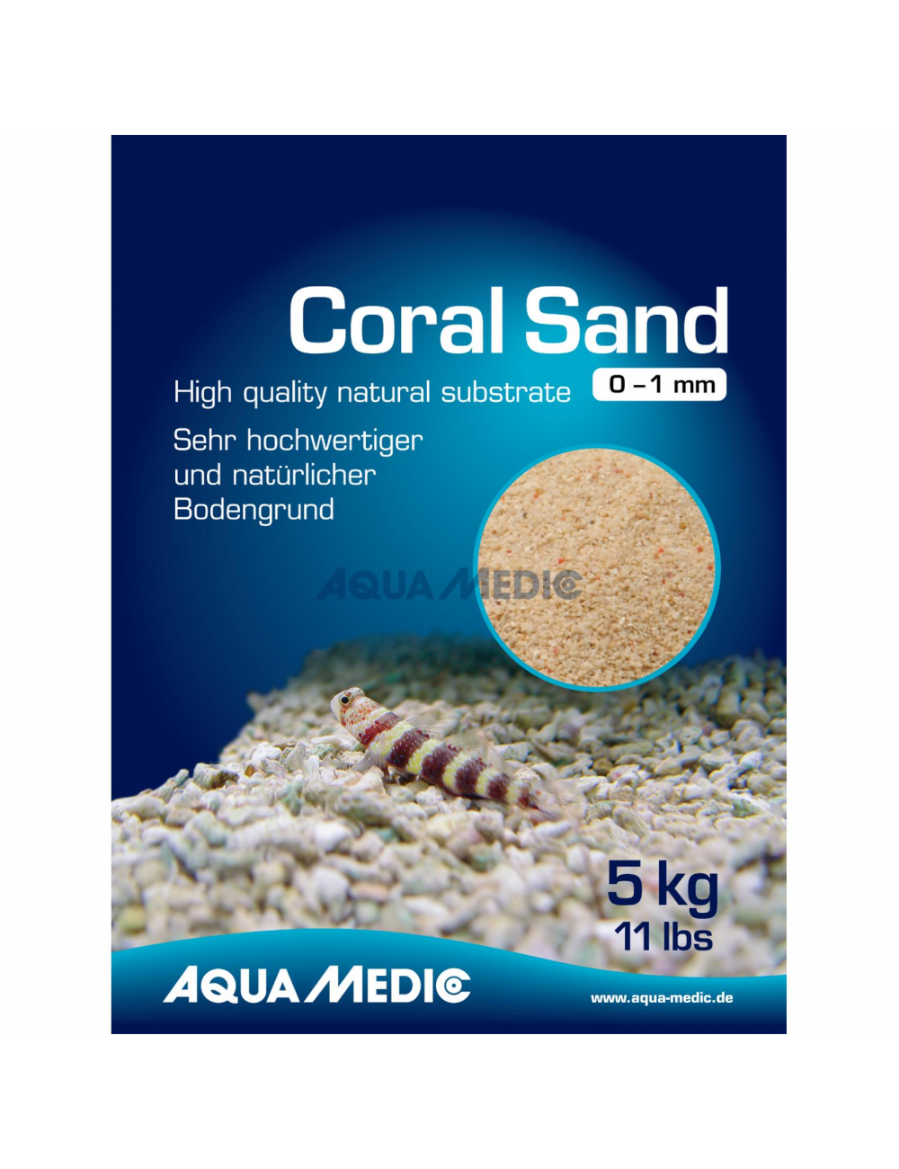 AQUA-MEDIC - Coral Sand - 2 - 5 mm - 10 kg sac