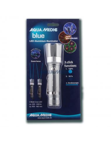 AQUA-MEDIC - Blue - Lampe de poche en aluminium avec Leds Bleu