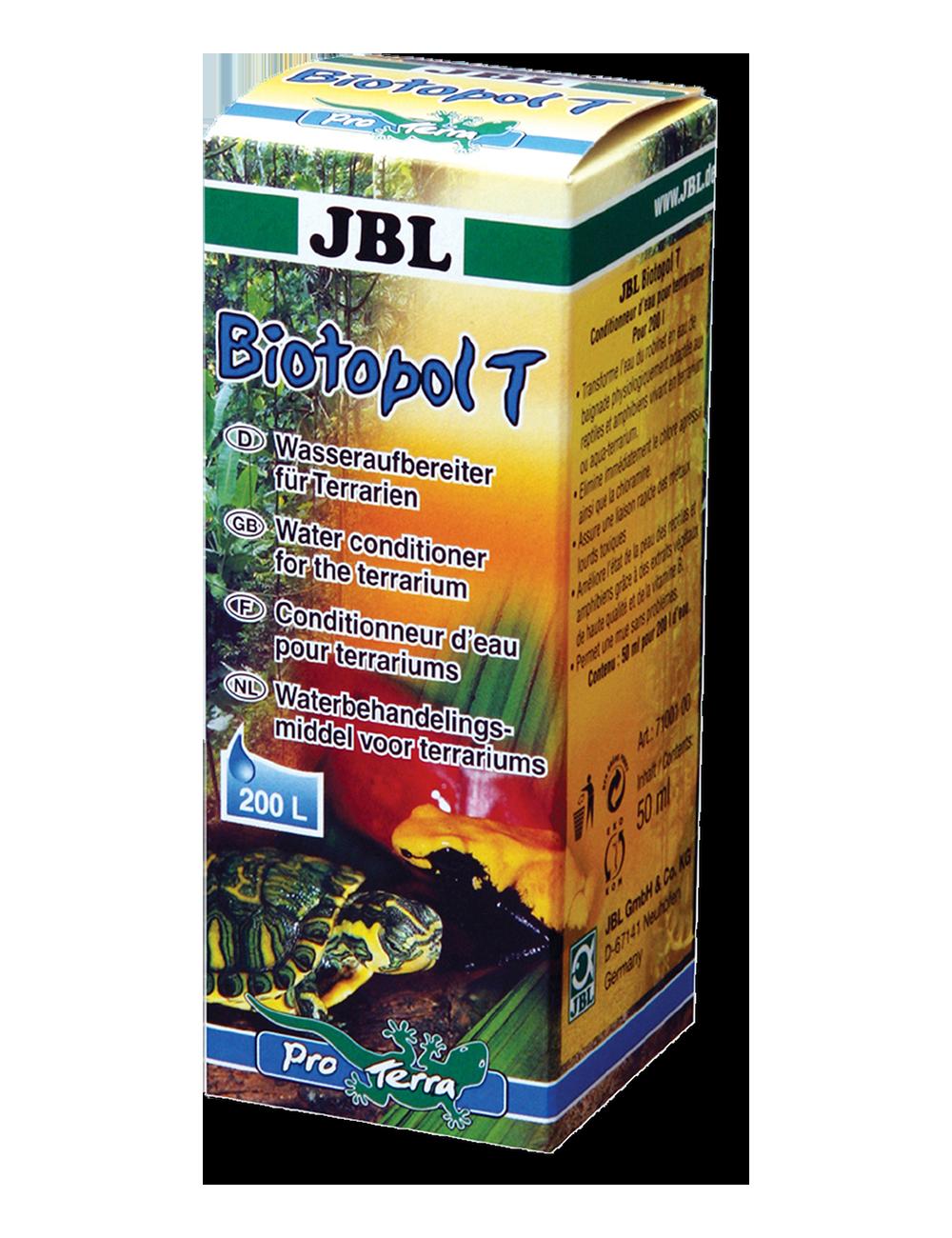 JBL -  Biotopol T - Conditionneur d'eau pour terrarium - 50ml