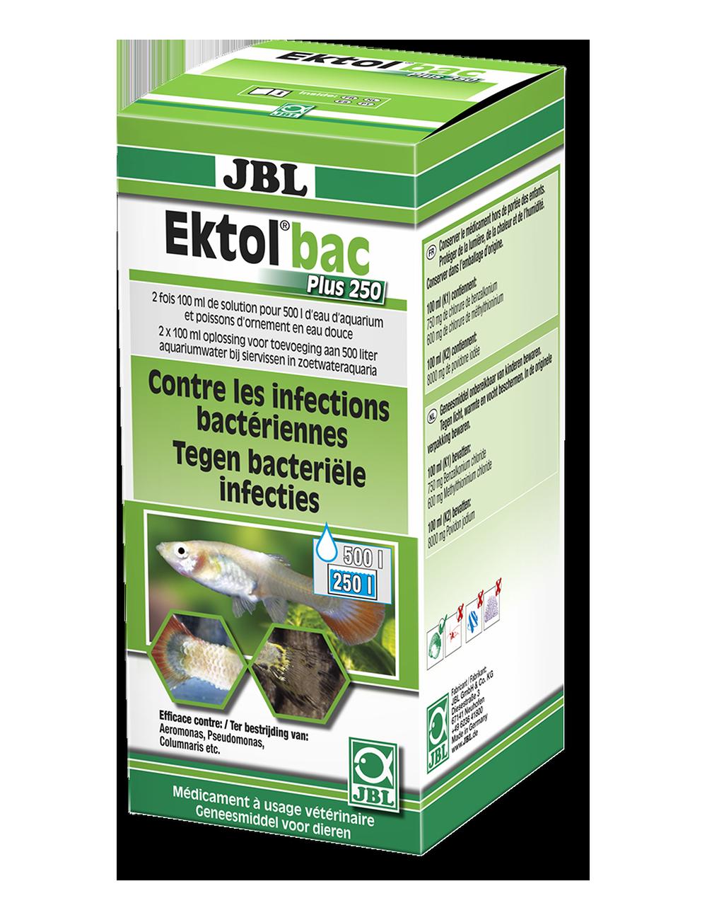 JBL - Ektol bac Plus 250 - Anti bactérien pour poissons - 200ml