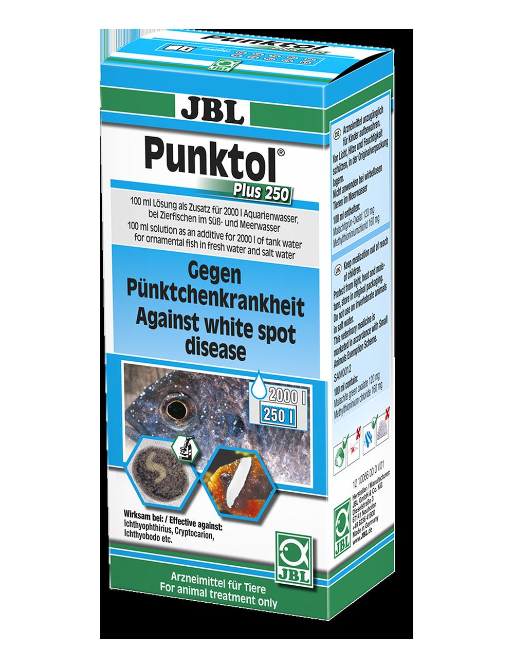 JBL - Punktol Plus 250 - Contre la maladie des points blancs - 100ml