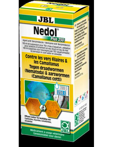 JBL - Nedol Plus 250 - Contre les camallanidae et autres nématodes - 100ml