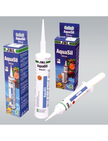 JBL - AquaSil noir - Silicone spécial pour aquariums et terrariums - 80ml