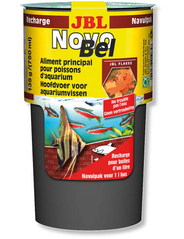 JBL - NovoBel recharge 135g- Aliment de base en flocons - 750ml