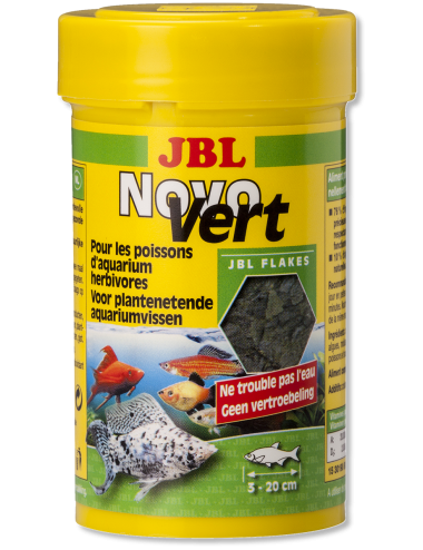 JBL - NovoVert - Aliment de base pour poissons herbivores - 250ml