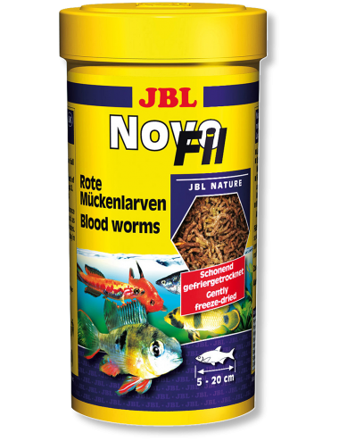 JBL - NovoFil 250ml - Larves de moustiques pour poissons difficiles