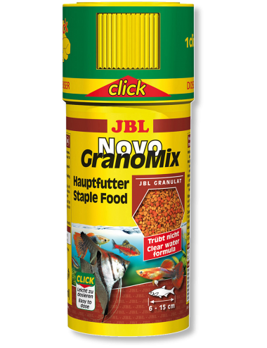 JBL - NovoGranomix Click 250ml - Nourriture pour poissons de moyenne et grande taille