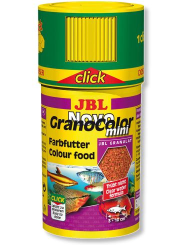 JBL - NovoGranoColor Mini Click 100ml - Nourriture pour poissons hauts en couleurs