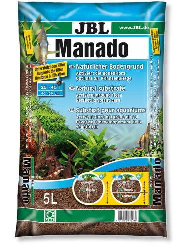 JBL - Manado 5l - Substrat de sol naturel pour aquariums d'eau douce