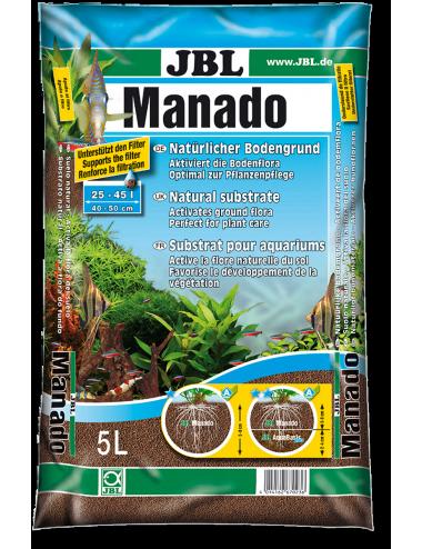 JBL - Manado 10l - Substrat de sol naturel pour aquariums d'eau douce