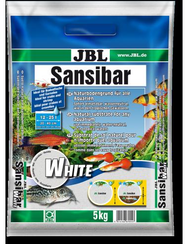JBL - Sansibar WHITE 5kg - 0.2, 0.6mm - Substrat de sol blanc fin pour aquarium