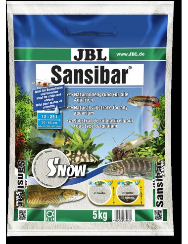 JBL - Sansibar SNOW 5kg - 0.1, 0.6mm - Substrat de sol blanc très fin pour aquarium