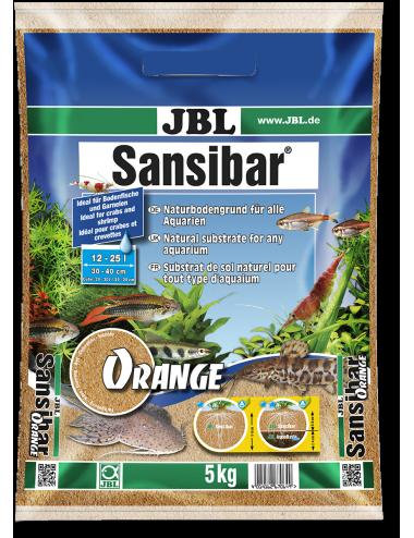 JBL - Sansibar ORANGE 5kg - 0.2, 0.6mm - Substrat de sol fin couleur orange pour aquariums