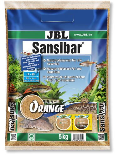 JBL - Sansibar ORANGE 10kg - 0.2, 0.6mm - Substrat de sol fin couleur orange pour aquariums