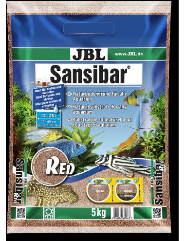JBL - Sansibar RED 10kg - 0.2, 0.6mm - Substrat de sol fin couleur rouge pour aquariums
