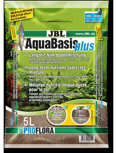 JBL - AquaBasis Plus 5l - Substrat nutritif longue durée pour aquariums d'eau douce