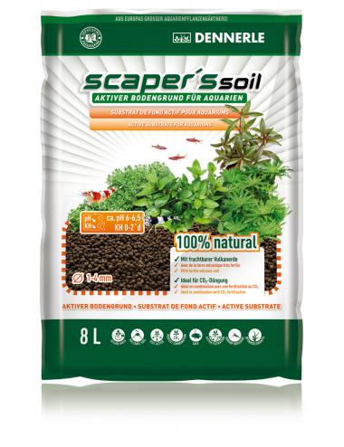 DENNERLE - Scaper's Soil 8l - Substrat nutritif pour aquarium planté