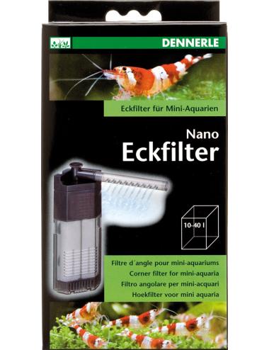 DENNERLE - Nano Eckfilter - Filtre pour Aquarium jusqu'à 40 L