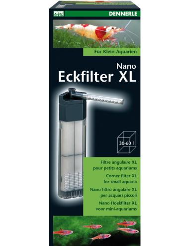 DENNERLE - Nano Eckfilter XL - Filtre d'angle pour Aquarium jusqu'à 60 L