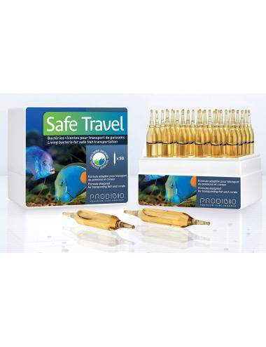 PRODIBIO - Safe Travel 30 ampoules - Bactéries pour transport de poissons