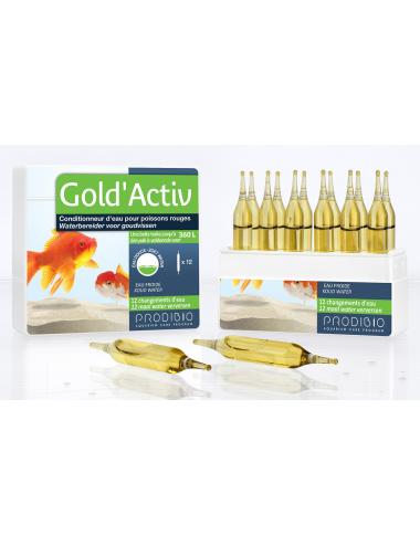 PRODIBIO - Gold'Activ 12 ampoules - Conditionneur d'eau pour Poissons Rouges