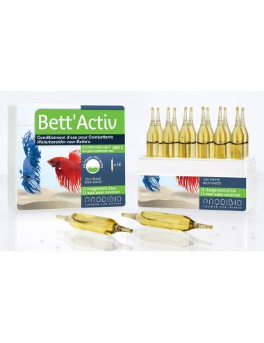 PRODIBIO - Bett'Activ 12 ampoules - conditionneur d'eau pour Poissons Combattants