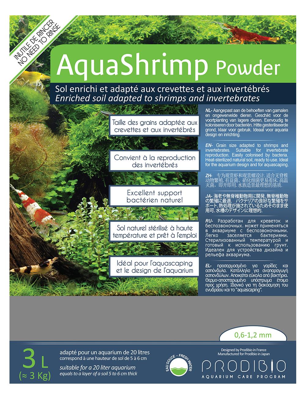 PRODIBIO - AquaShrimp Powder 3l - Sol pour crevettes