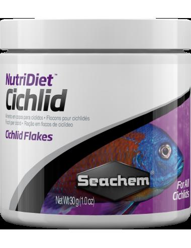 SEACHEM - NutriDiet Cichlid Flakes 30gr - Aliments pour poissons Cichlidés