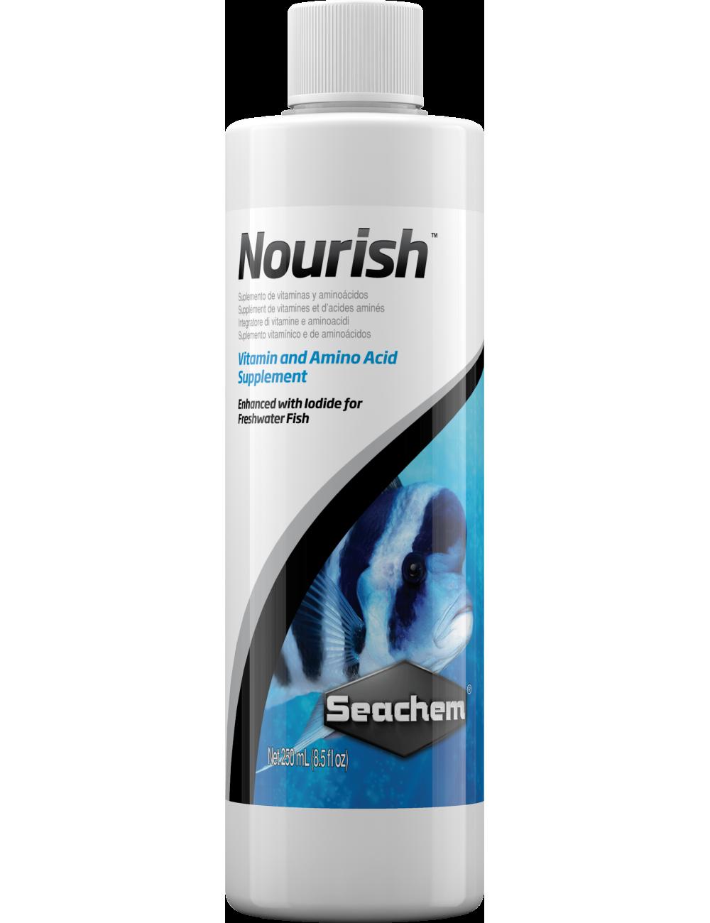 SEACHEM - Nourish 250ml - Additif riche pour poisson d'eau douce