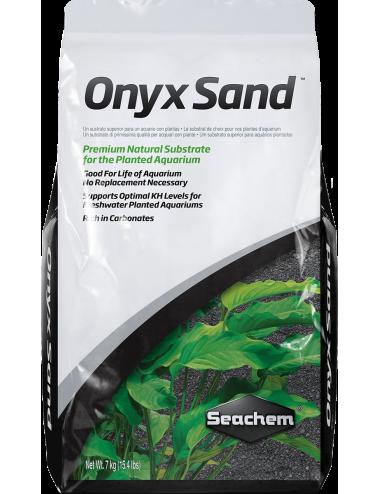 SEACHEM - Onyx Sand 7kg - Sol complet pour aquarium planté