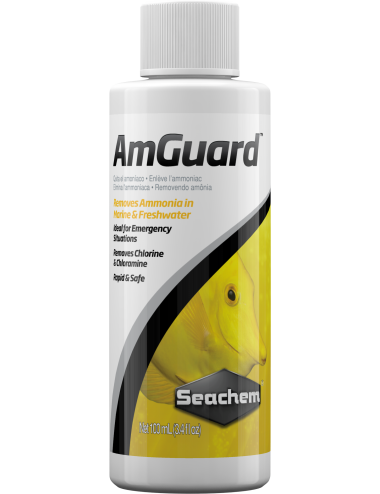 SEACHEM - Amguard 100ml - Conditionneur d'eau anti-ammoniac
