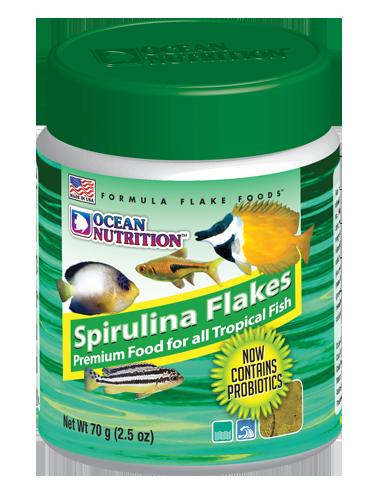 OCEAN NUTRITIONS - Spirulina Flakes 70g - Flocons de spiruline