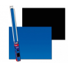 AQUA NOVA - Poster de fond Noir/Bleu - 100x50cm