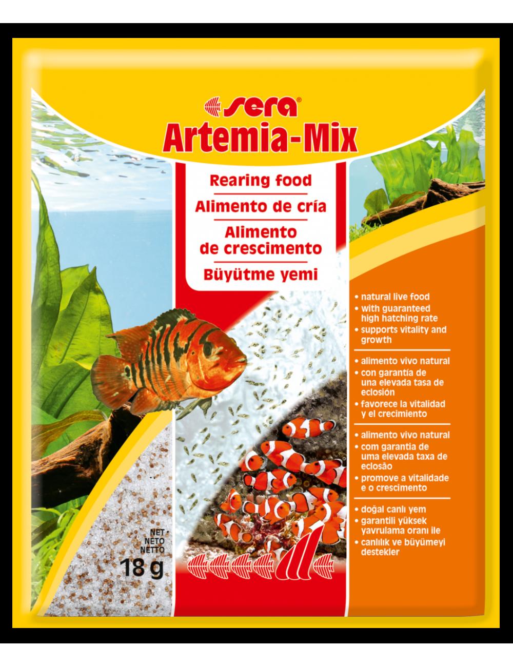 SERA - Artemia-Mix 18gr - Aliment d'élevage vivant