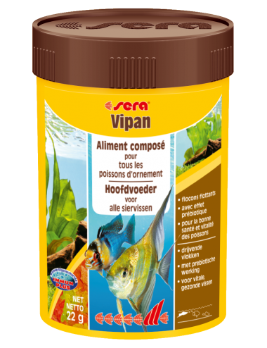 SERA - Vipan 250ml - Aliment composé pour tous les poissons d'ornement
