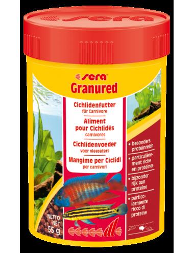 SERA - Granured 100ml - Aliment composé pour les petits Cichlidés carnivores