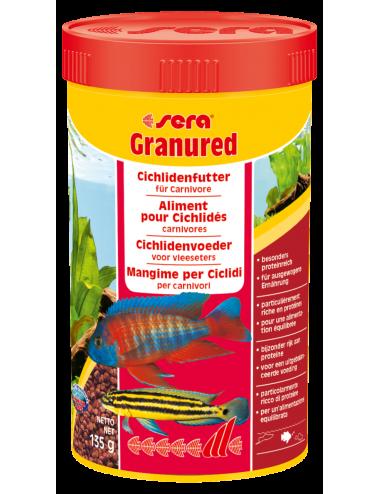 SERA - Granured 250ml - Aliment composé pour les petits Cichlidés carnivores