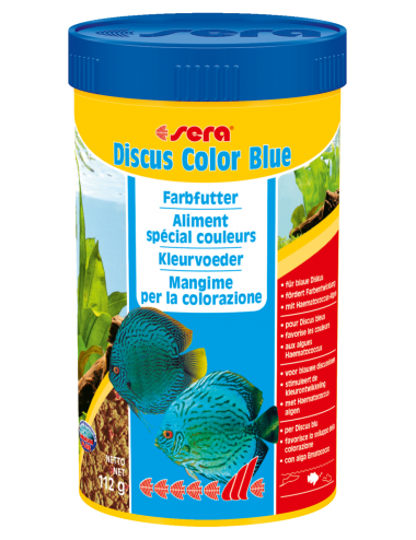 SERA - Discus Color Blue 250ml - Aliment spécial couleurs pour les Discus bleuâtres