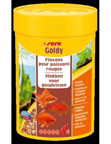 SERA - Goldy 100ml - Aliment pour poissons rouges et poissons d'eau froide