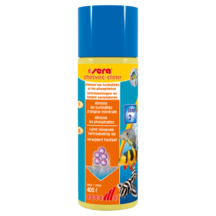 SERA - Phosvec·Clear 100ml - Anti-phosphate et turbidités