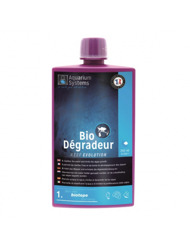 AQUARIUM SYSTEMS - Bio-Dégradeur 250ml - Conditionneur d'eau