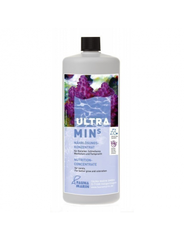 FAUNA MARIN - Ultra Min S - 250 ml - Solution nutritive pour coraux