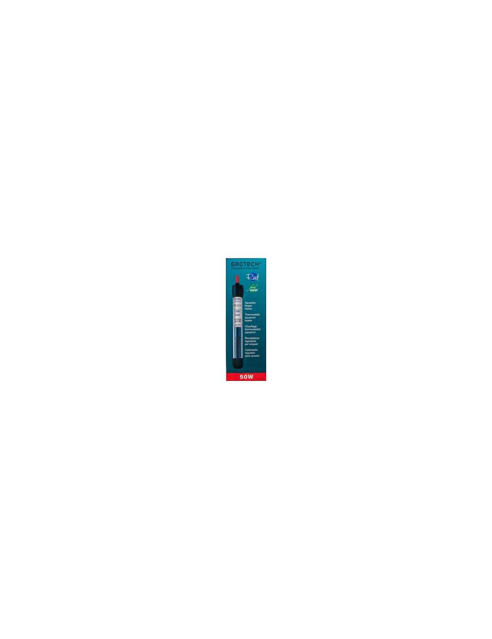 GROTECH - Chauffage 50W avec thermostat pour aquarium