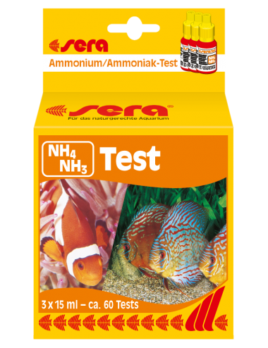 SERA - Test NH4/NH3  - Analyse du chlore en aquarium