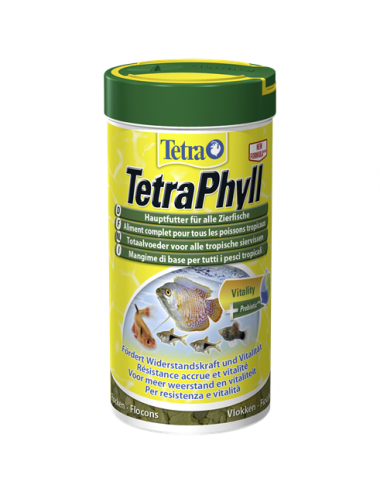 TETRA - TetraPhyll - 250ml - Aliment complet pour poissons herbivores