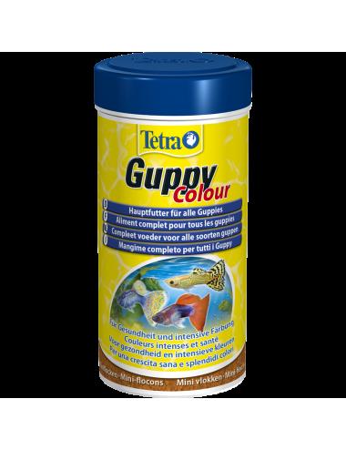 TETRA - Guppy Colour - 250ml - Aliment complet enrichi pour Guppy