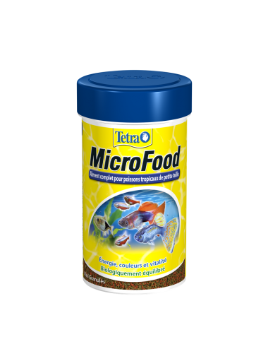 TETRA - MicroFood - 100ml - Aliment complet pour petits poissons