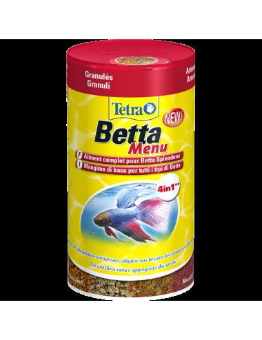TETRA -  Betta Menu - 100ml - Aliments variés pour poissons combattants.