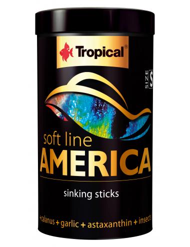 TROPICAL - Soft Line America S - 100ml - Nourriture en baronnet pour poissons d'Amérique.